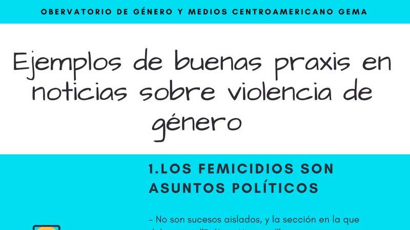 Ejemplos de buenas praxis en noticias sobre violencia de género